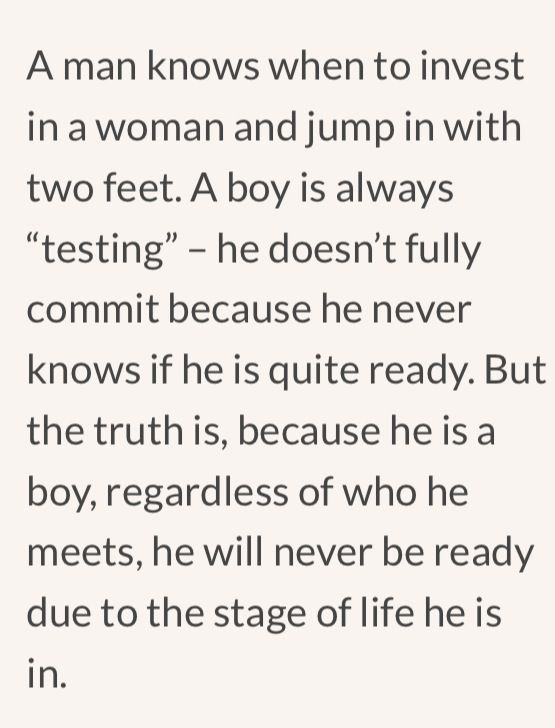 The 11 differences between dating a boy and a man