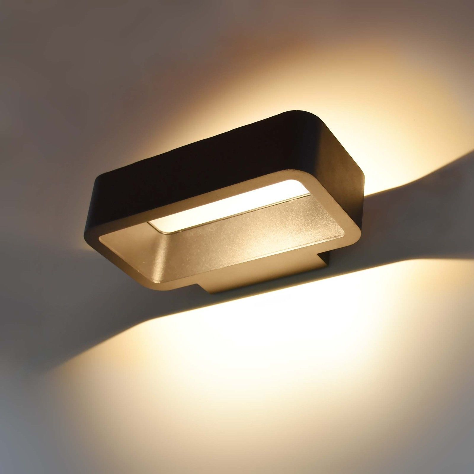 Bewegungsmelder LED Lampe Wandleuchte Wandlampe Leuchte Strahler Wand Alu