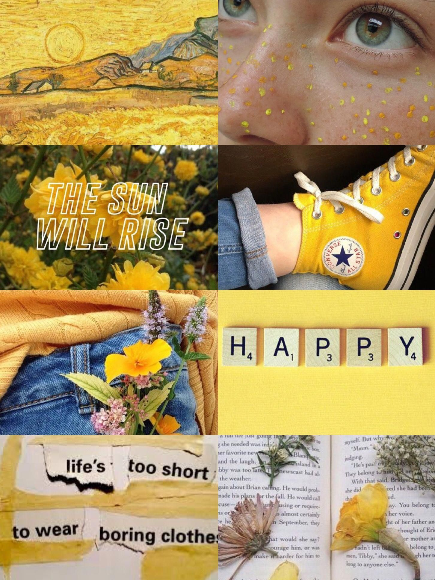 Happy yellow aesthetic astheticwallpaperiphonevintage