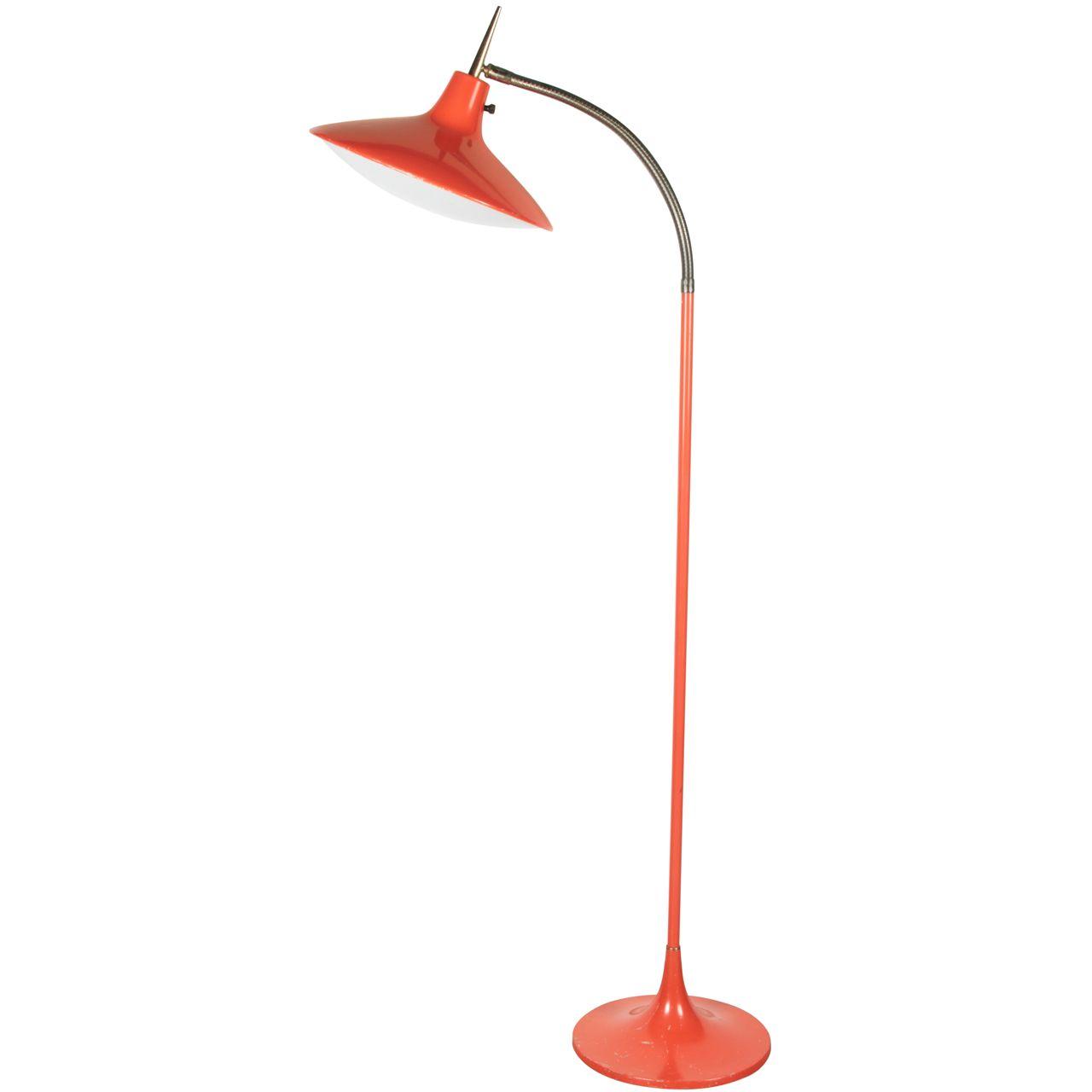 1stdibs Com Orange Gooseneck Floor Lamp By Laurel Gooseneck