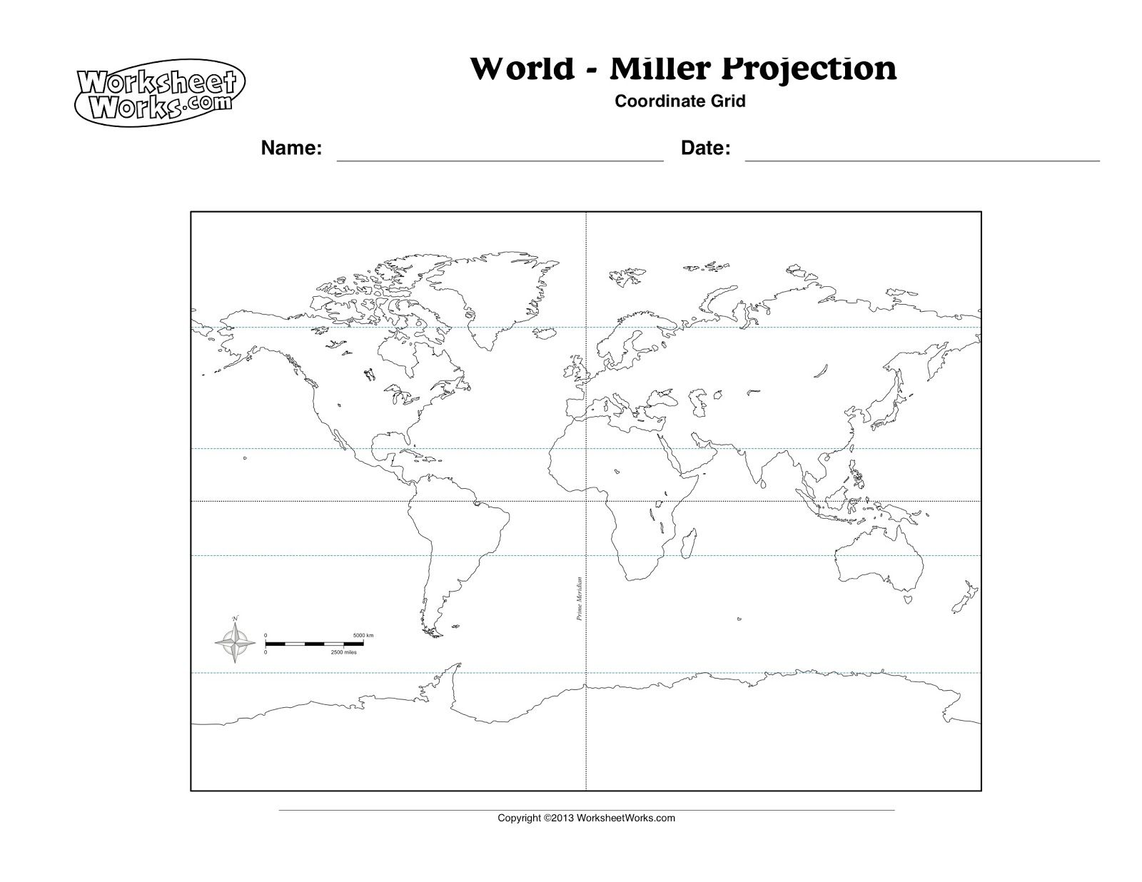 Lines Of Latitude Worksheet Printable With Images