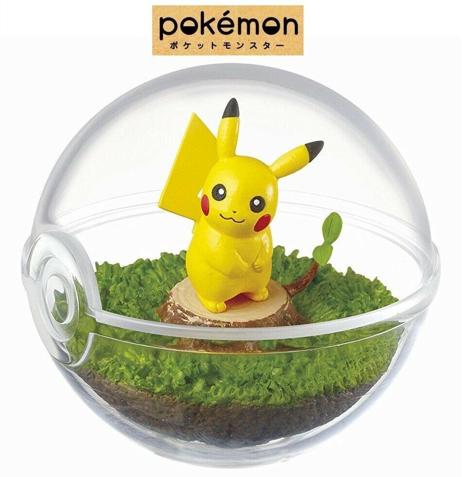 RE-MENT Pokemon Terrarium Collection Vol 1 Poke Ball Case Figure #1 Pikachu NEW