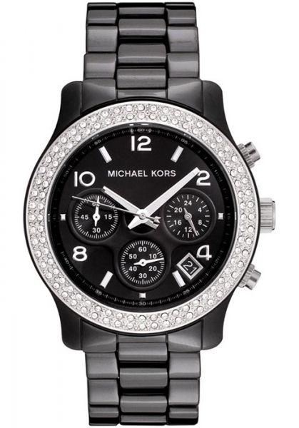 Michael Kors Mk5190 Damenuhr Keramik Schwarz Mit Strass Watches Women Michael Kors Michael Kors Michael Kors Watch