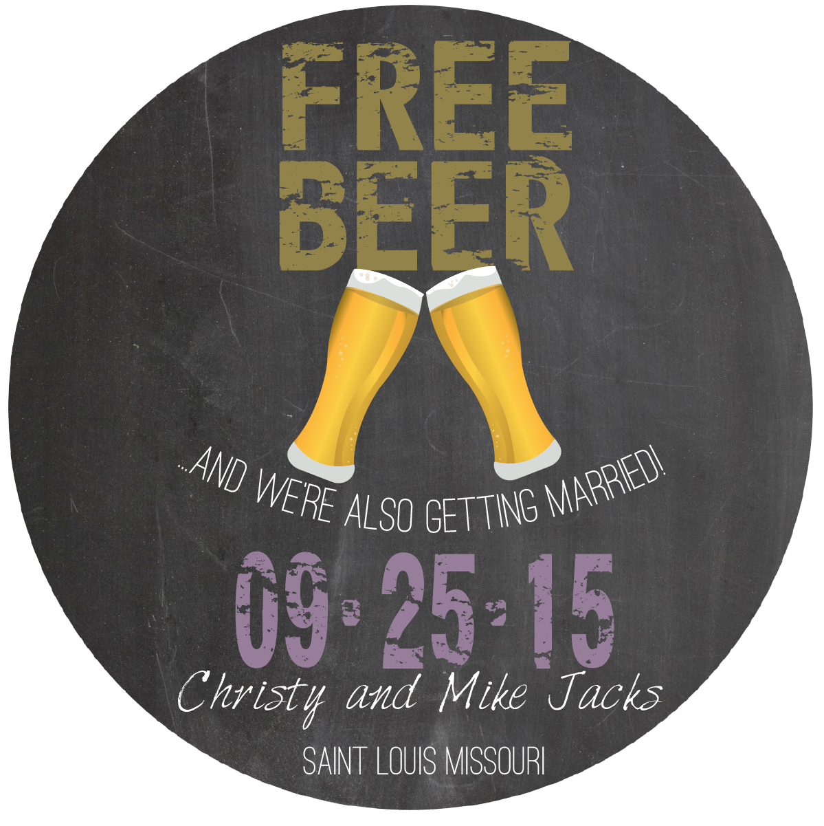 save the date design vintage free beer fliptstl graphics