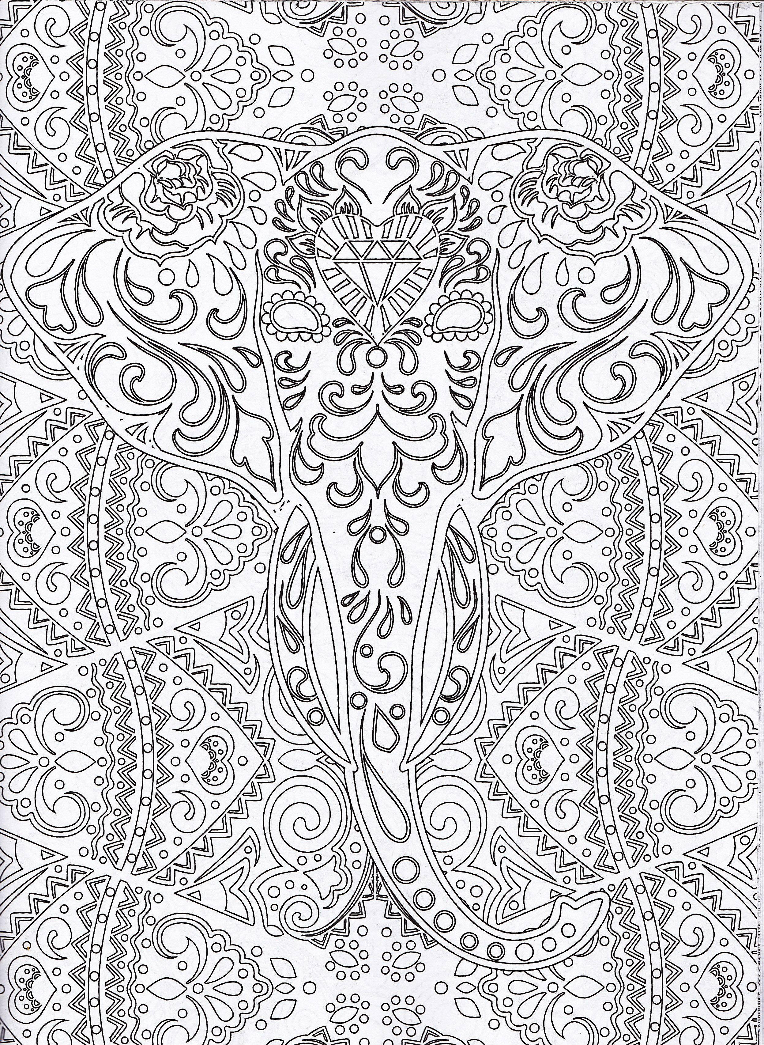 Magazine Coloriage Zen N coloriage éléphant Printables