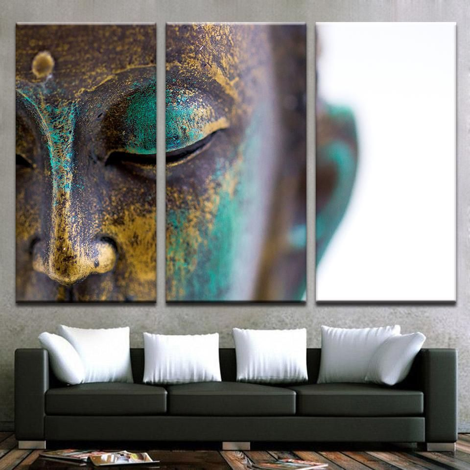 Limited Edition Buddha Artwork 11 Buddha Home Decor Wall Art Canvas Painting Teal Wall Art