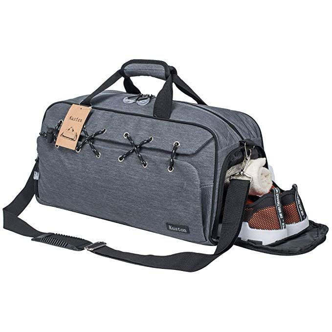 Sports Gym Bag Travel Duffel With Shoes Compartment For Men