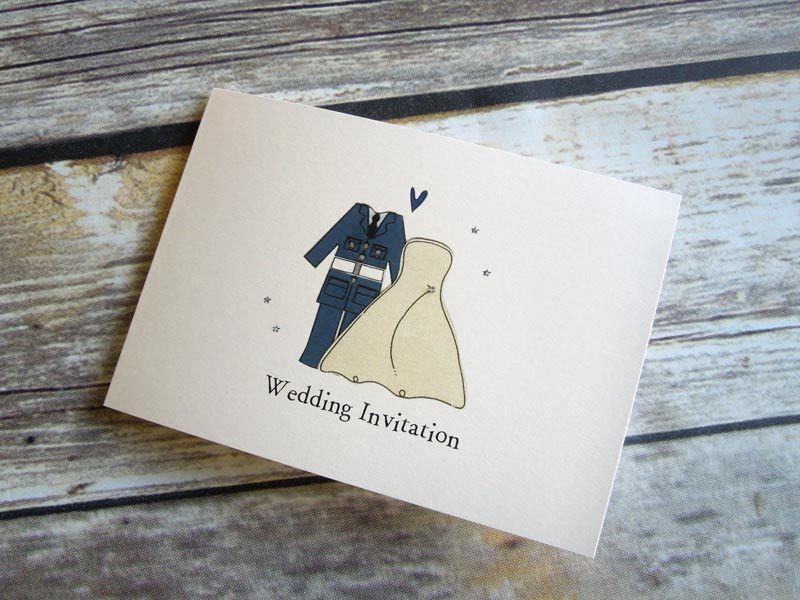 Army Wedding Invitations: RAF UniformBride And Groom Themed Wedding Invitation