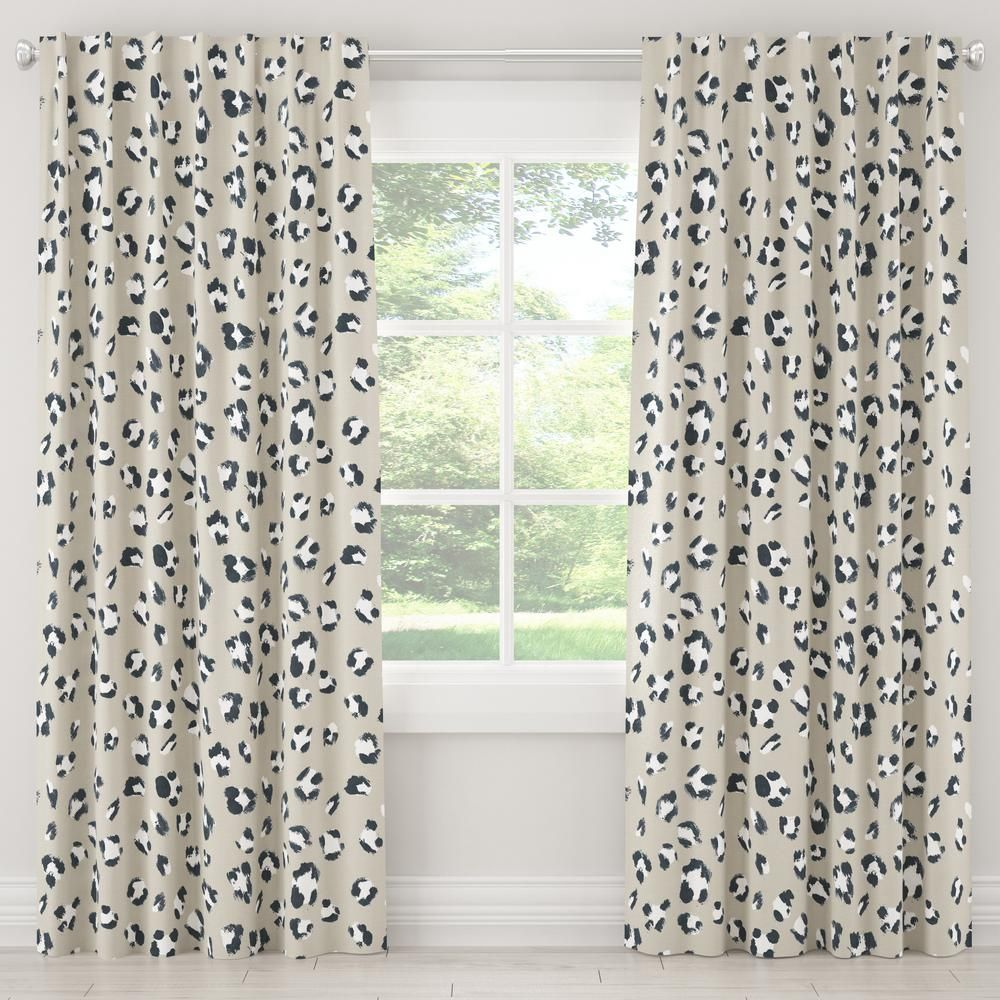 Skyline Furniture 50 In W X 120 In L Blackout Curtain In Brush Cheetah Ivory Curtains Cool Curtains Blackout