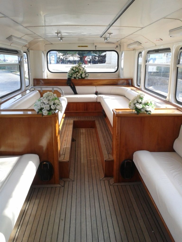 Even The Wedding Bus Interior Is In White O Special Bus For Your Special Wedding Day Tour On Cyprus Won T Let You Forget