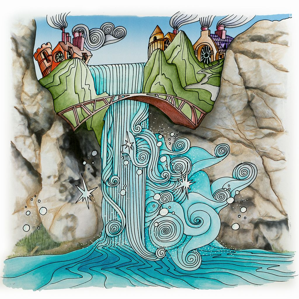 Waterfall From Lizzie Mary Cullen Book Magical City Colored By Me
