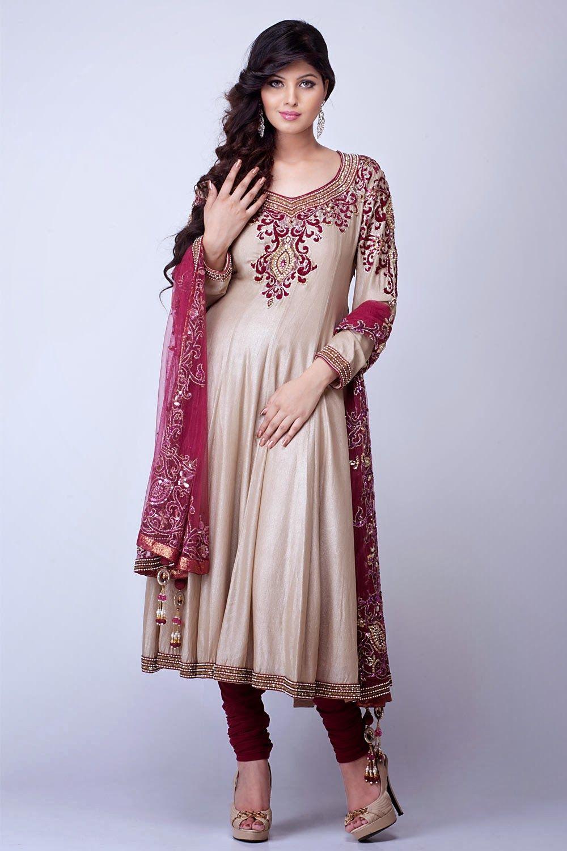 A Beautiful Designer Anarkali Best Suited For Wedding