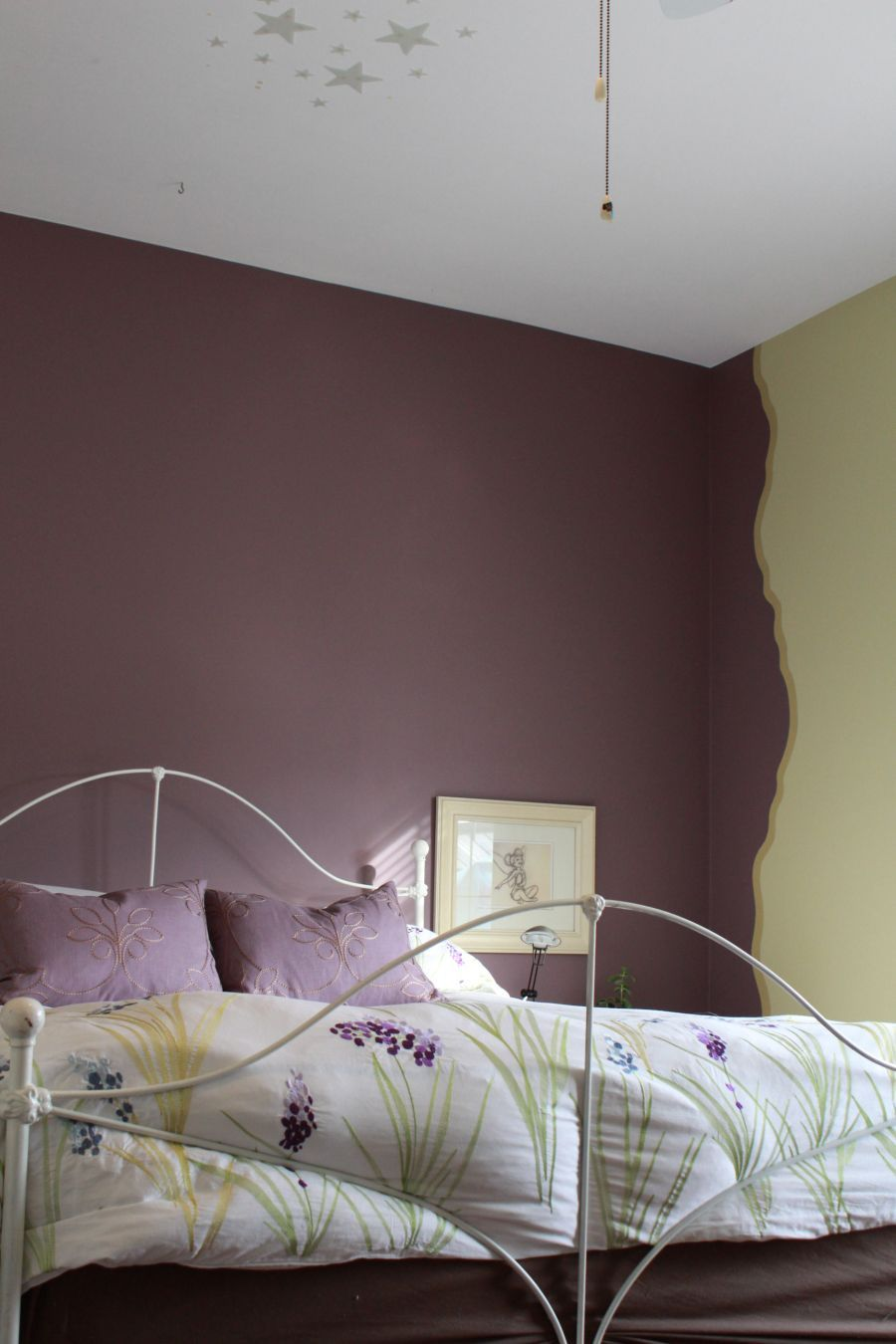 Girls Bedroom- Designed by Homescapes by Lynn - ask today about how to do this technique and the Benjamin Moore colours used to paint it!
