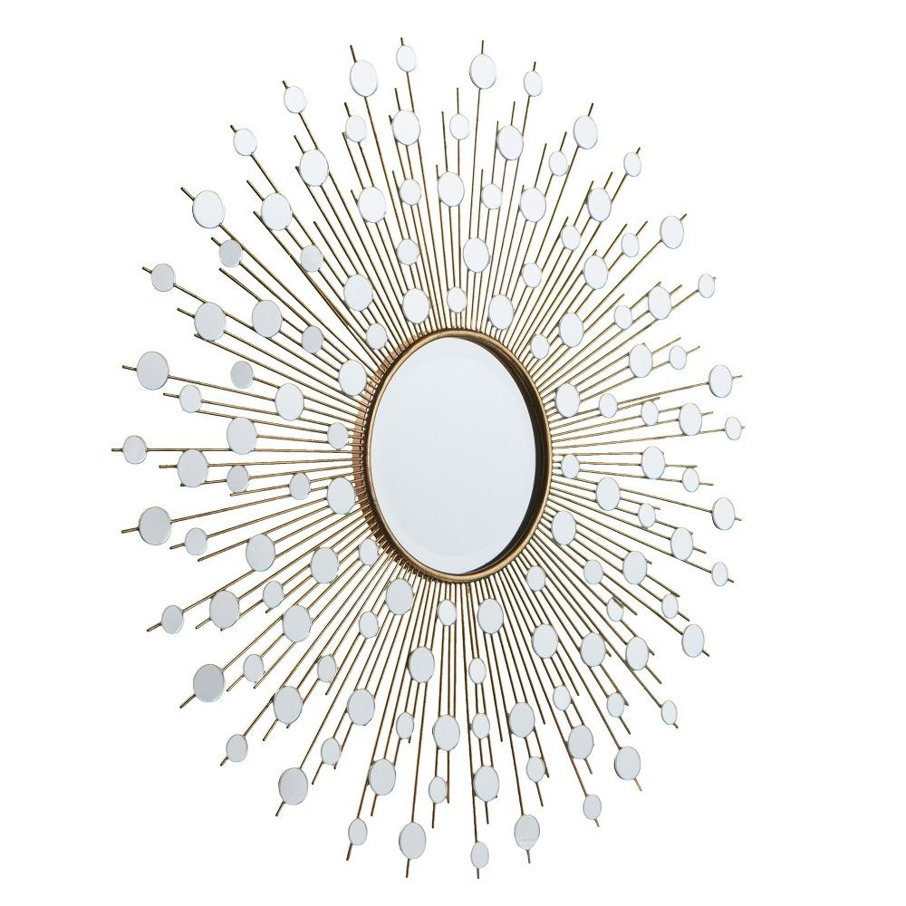 Mirrors Are Amazing Interior Design Accessories And You Can Put It In Every Room That You Wish For Starburst Mirror Wall Mirror Design Wall Antique Mirror Wall