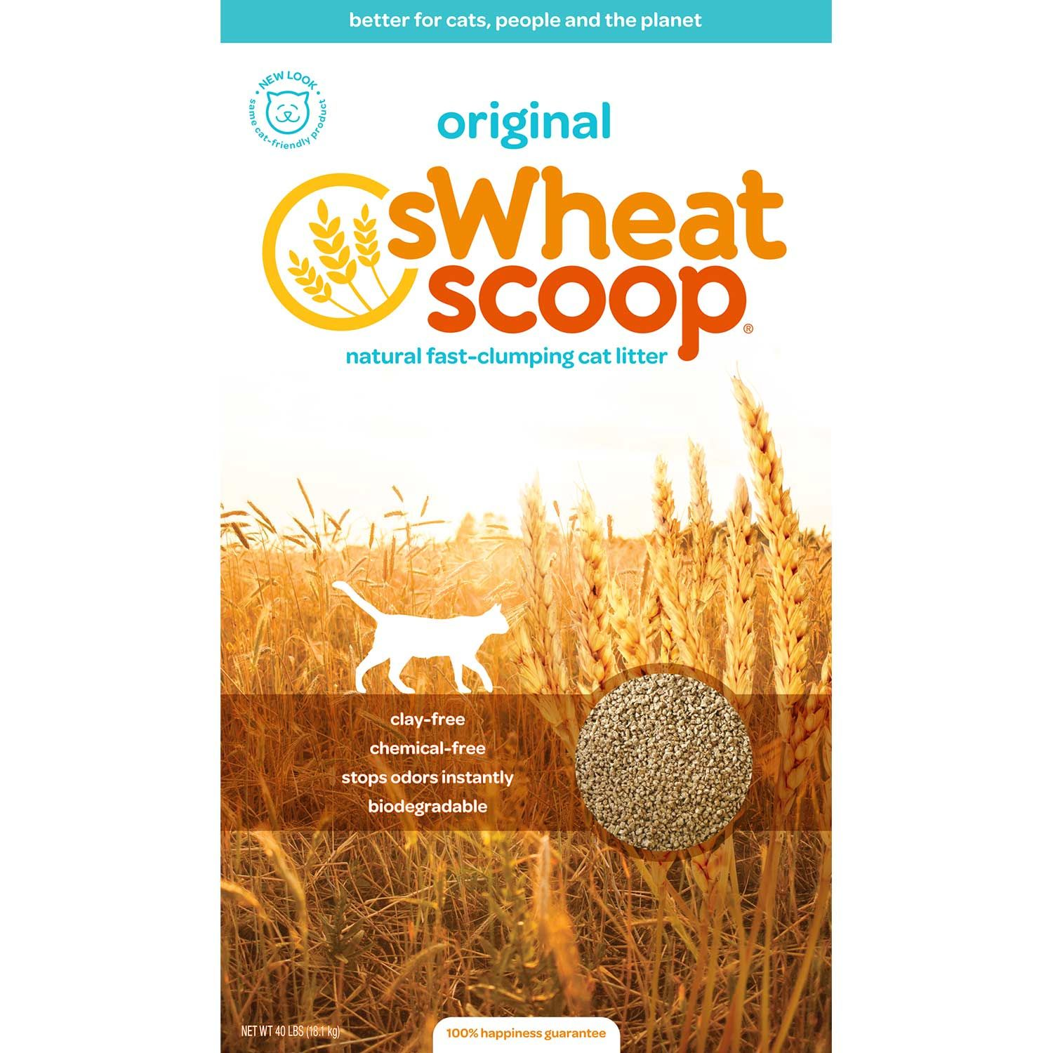 sWheat Scoop Natural Wheat Cat Litter, 12lbs Clumping