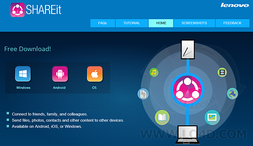 Download SHAREit 2.5.1.1 For Windows