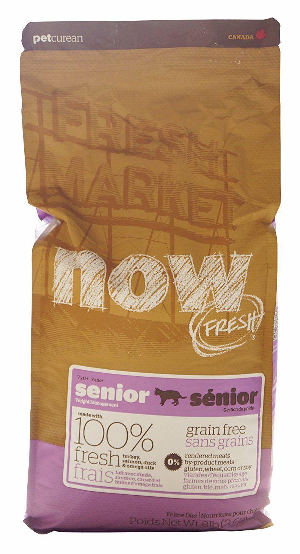 NOW! 152323 Fresh Grain Free Food for Senior Cats, 8Pound