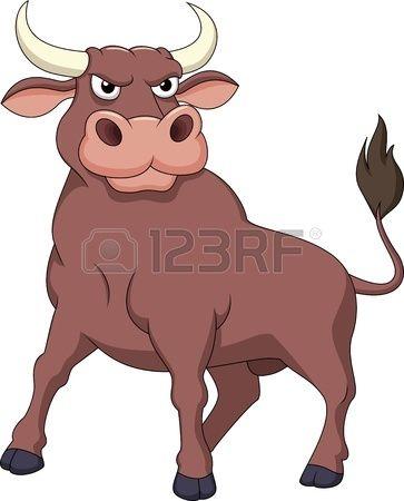 Strong Bull Cartoon Bull Painting Cartoon Drawings Cartoon