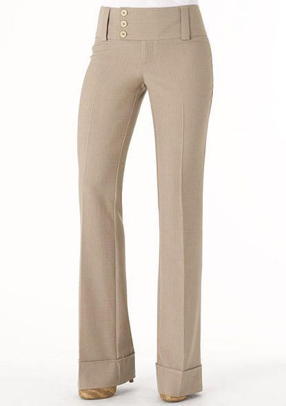 52d2f94c7b2cf STRETCH low-rise flare pant fits slim through thigh with three-button  extend-tab closure and cuffed hem.