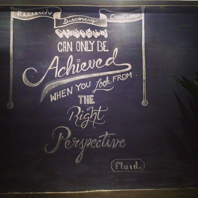 Chalkboard design at the Fluid office. #Chalkboard #lettering #typography #type #chalkboardart #illustration #design