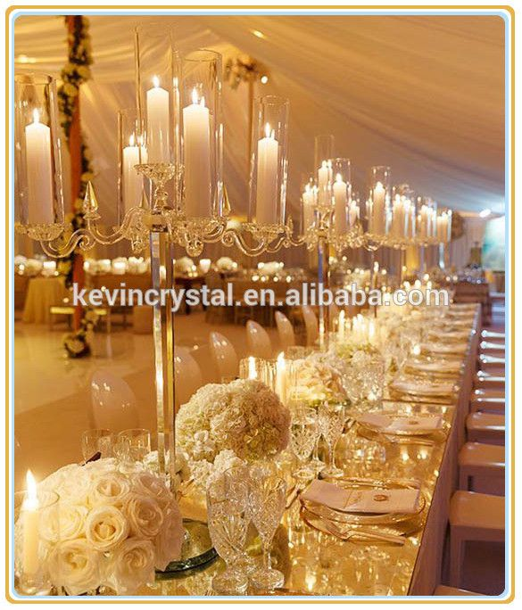 5 Green Wedding Decorations That Will Leave You Speechless: Hot 2016 Crystal Candelabra Wedding Centerpieces, Crystal