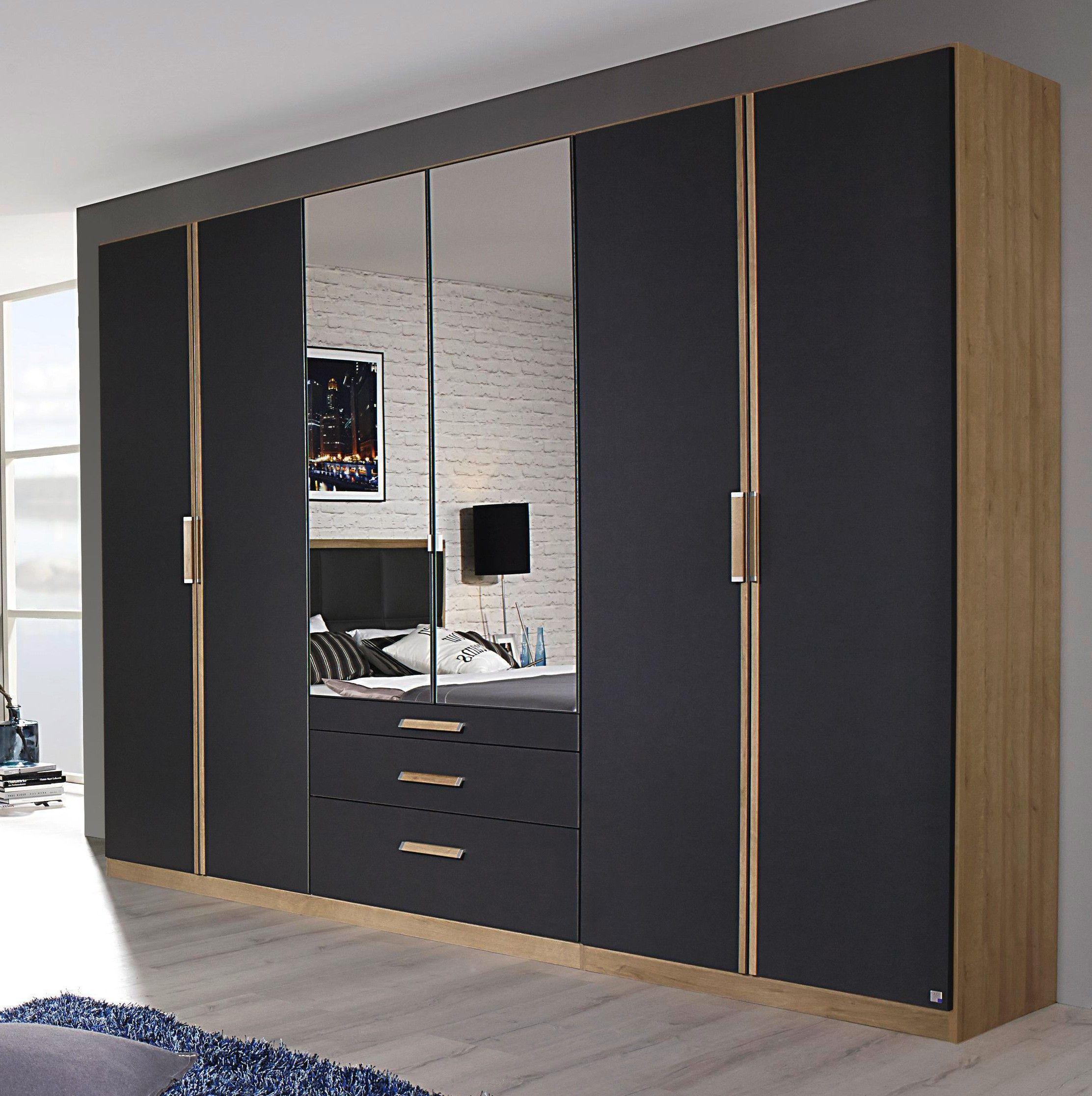 Armoire Dressing Chambre Adulte armoire contemporaine 271 cm chêne/gris ursula i en 2020