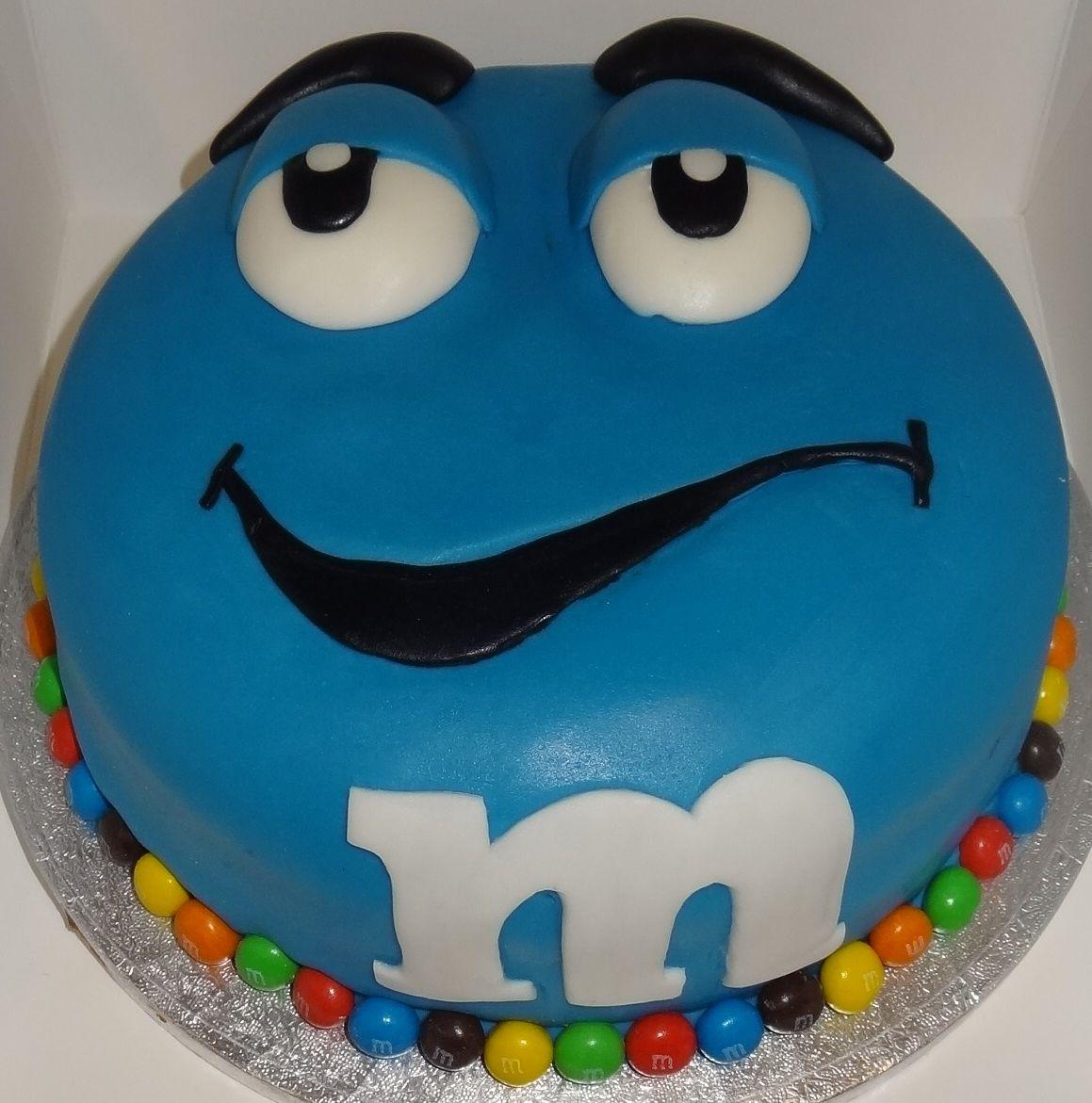 blue mm cake Cakes Pinterest Cake