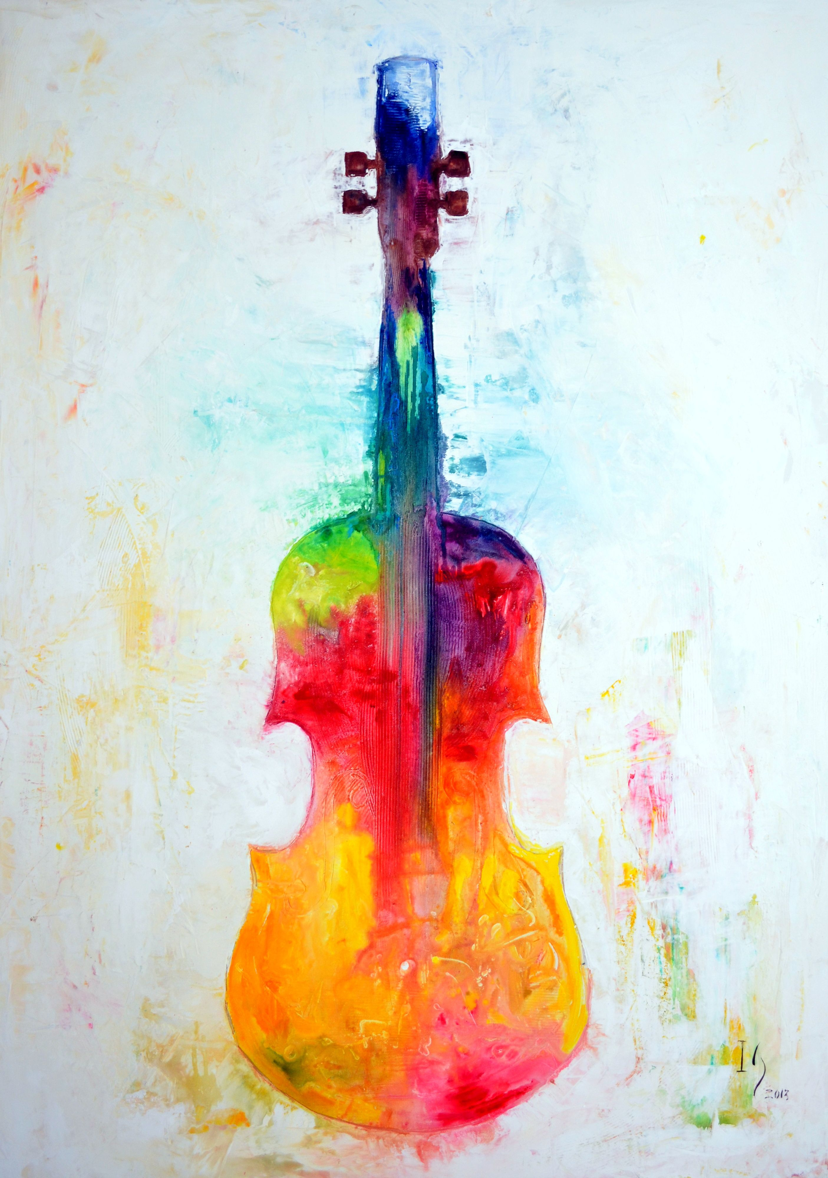 "MUSIC PAINTINGS AND MUSIC ART Title ""Beyond the Strings"
