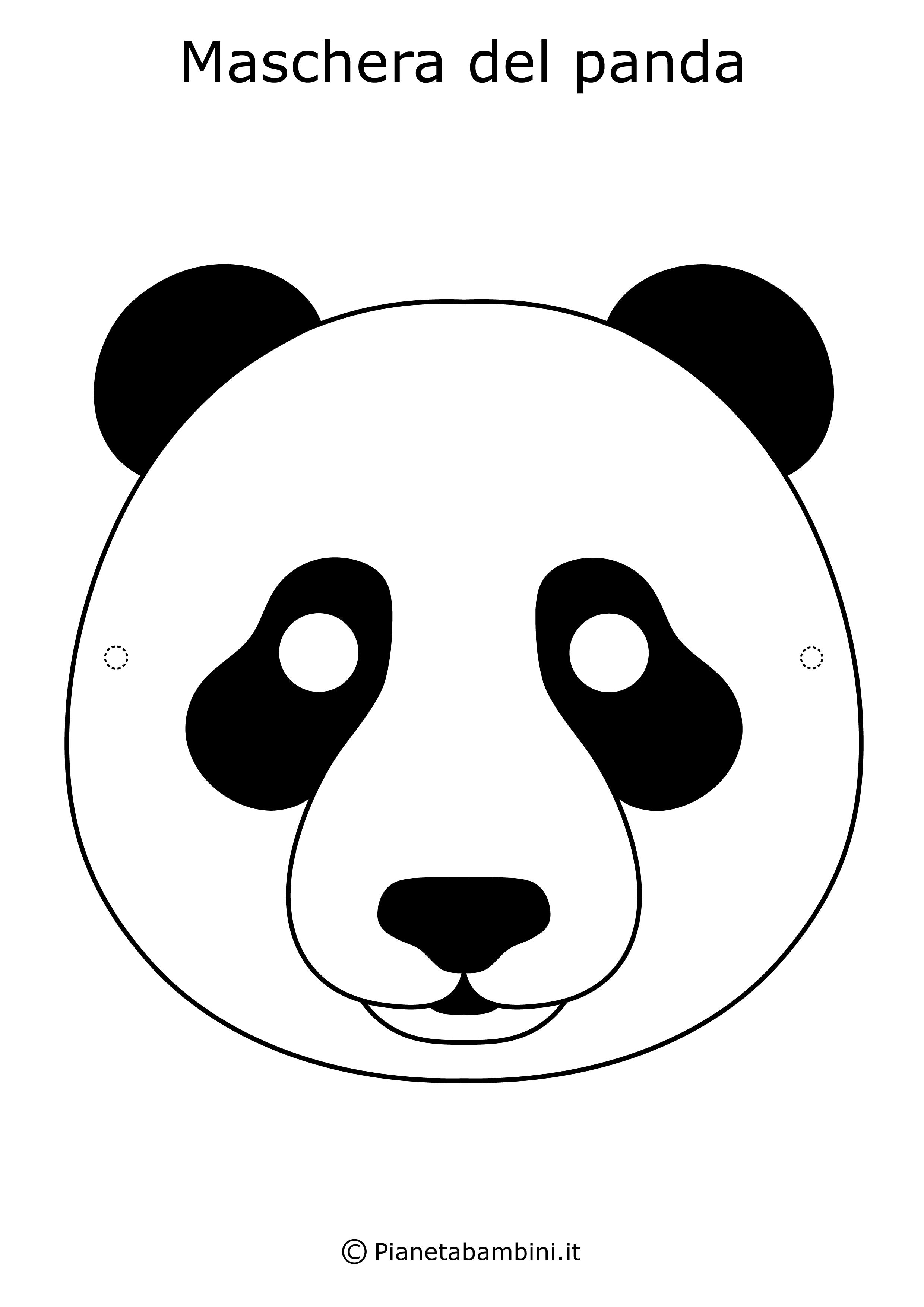 Maschere Di Animali Da Stampare E Ritagliare Per Bambini Panda