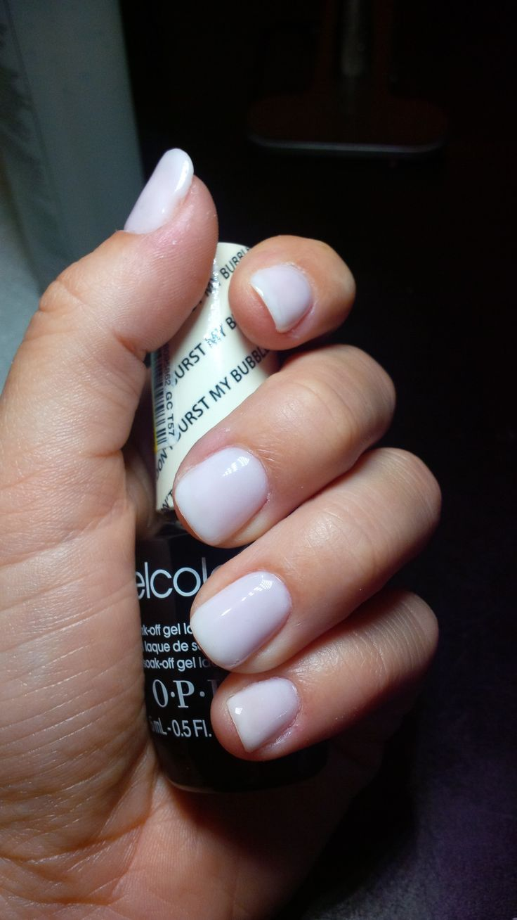 Opi White Gel Nail Polish: OPI Gelcolor - Don't Burst My Bubble