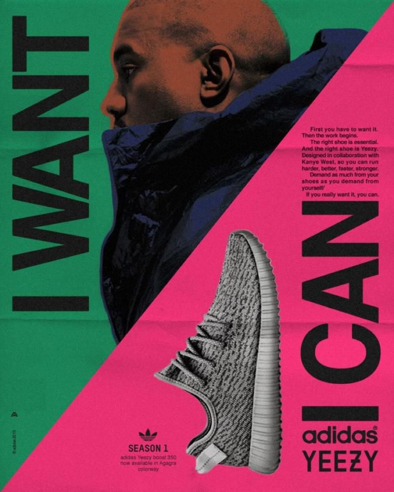 One Artist Imagined Kanye West in Old School Adidas Ads