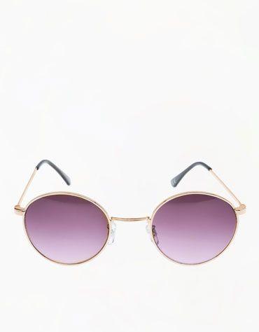 47399504f3 Bershka Egypt - Round metallic glasses Cat Eye Sunglasses, Mirrored  Sunglasses, My Wardrobe,