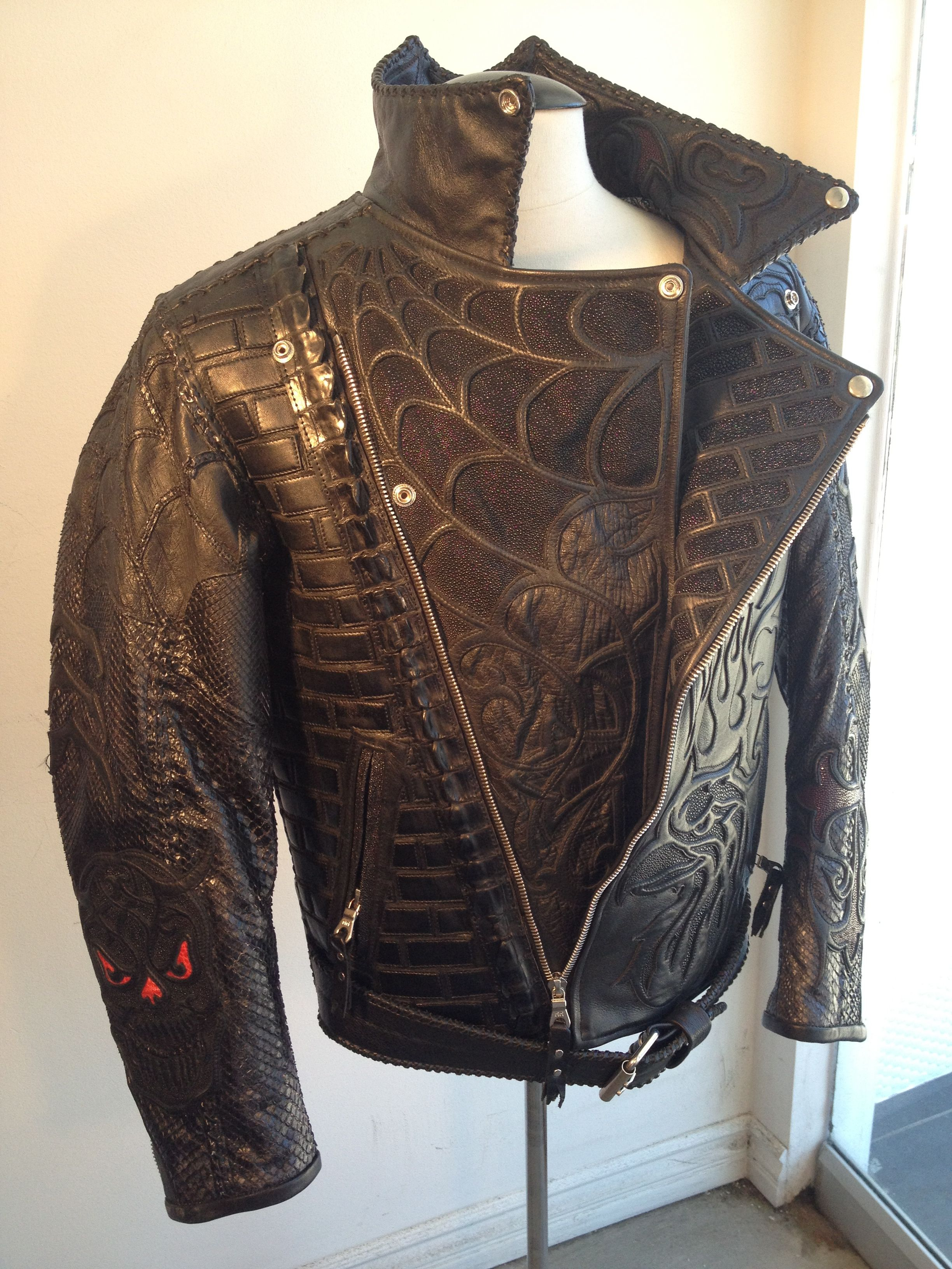 Sting Ray Spiderweb. Handmade excellence. Jacket by Logan Riese Leather