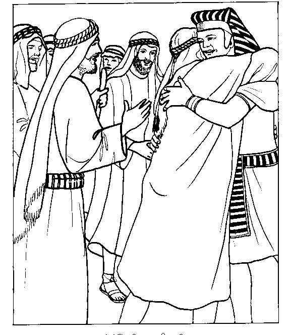 Joseph And Brothers Coloring Page | Sunday school coloring ...
