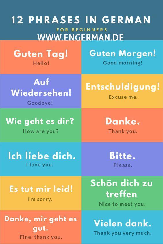 dating phrases in german