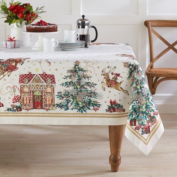 Twas The Night Tablecloth 70 X 90 Christmas Table Cloth