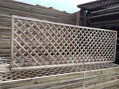 6x2 Elite Alderley Diamond Trellis 183 X 60 Garden Lattice Fence Topper Climbing Fence Toppers Lattice Fence Fence Design