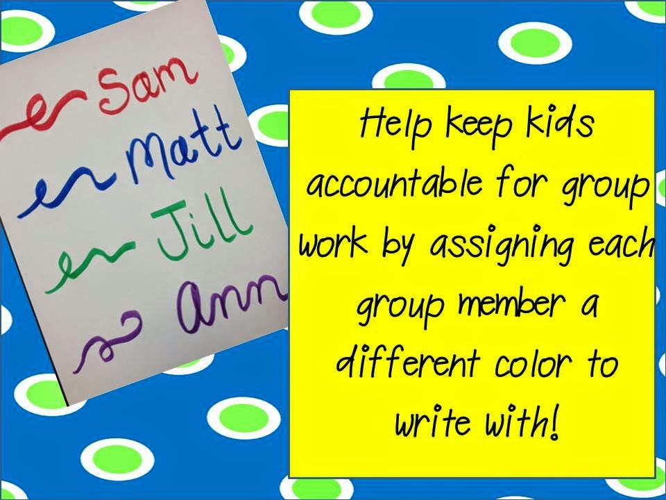 Bright Ideas Round-Up... Holding kids accountable during small group time