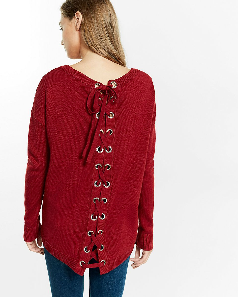 lace-up back tunic sweater | Brianna's Christmas List 2016 ...