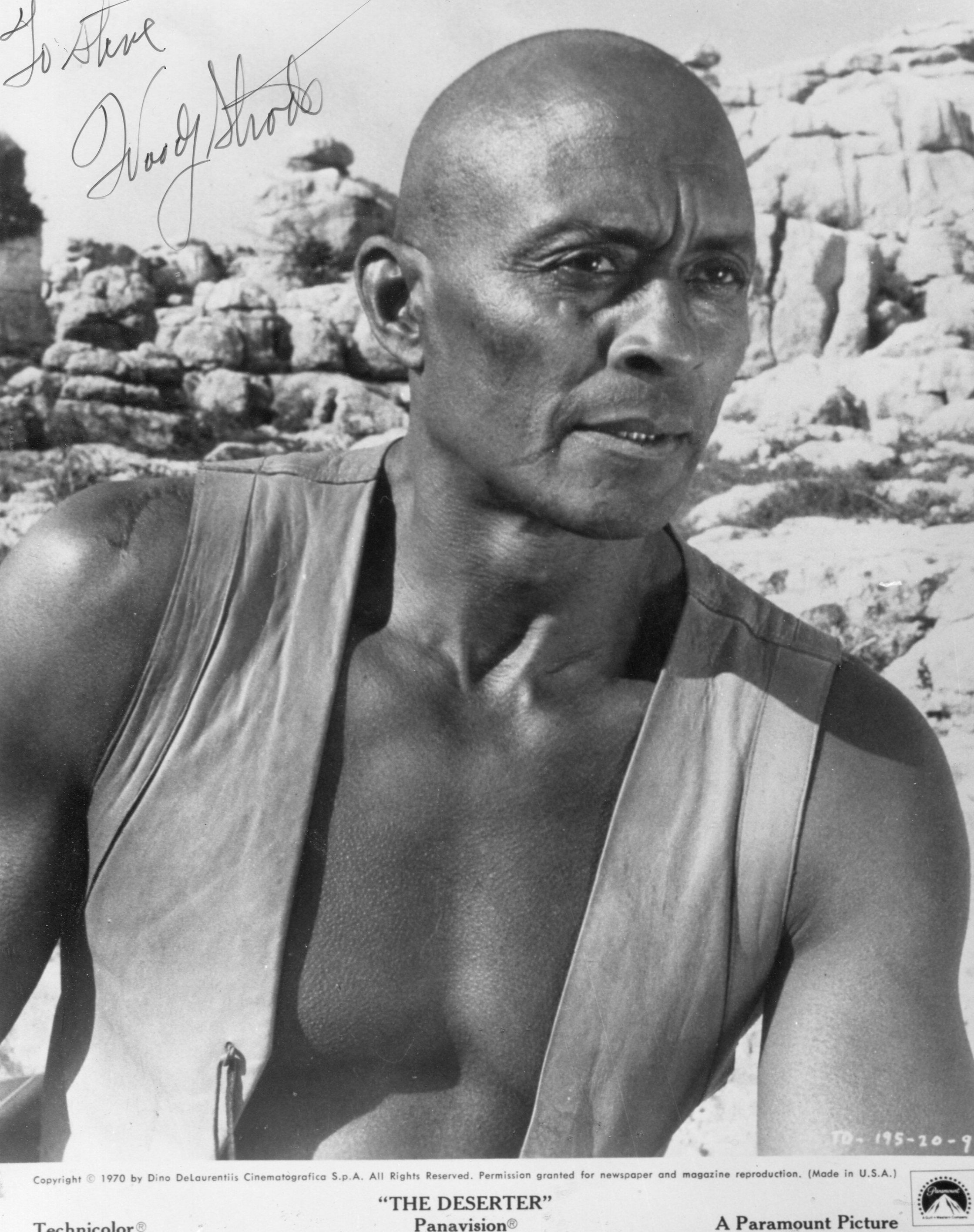 Woody Strode was the son of a CreekBlackfootblack father