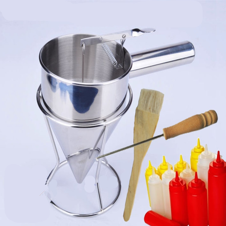 48.80$  Know more  - 2015  commercial fish ball taiyaki funnel takoyaki funnel stainless steel takoyaki funnel sets