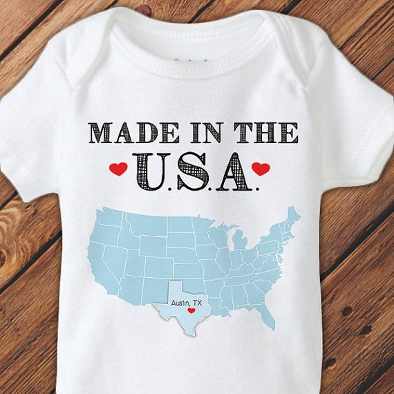 Made in the usa home town personalized baby onesie by olivabella made in the usa home town personalized baby onesie by olivabella 3000 negle Gallery