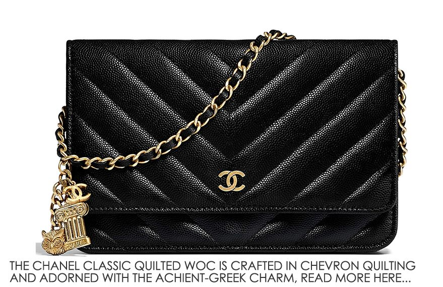 2e353628c349 Chanel Chevron Classic Quilted WOC with Ancient Greek Charm ...