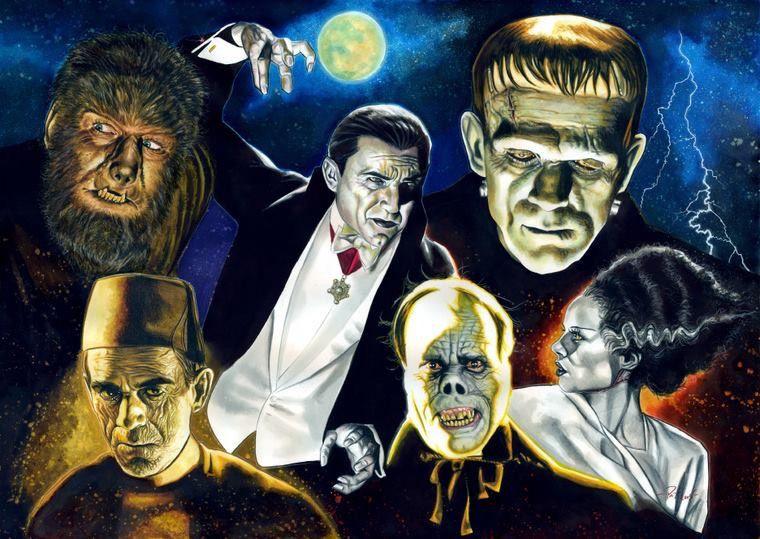 Horror Art in 2020 | Universal monsters, Horror monsters, Classic monsters