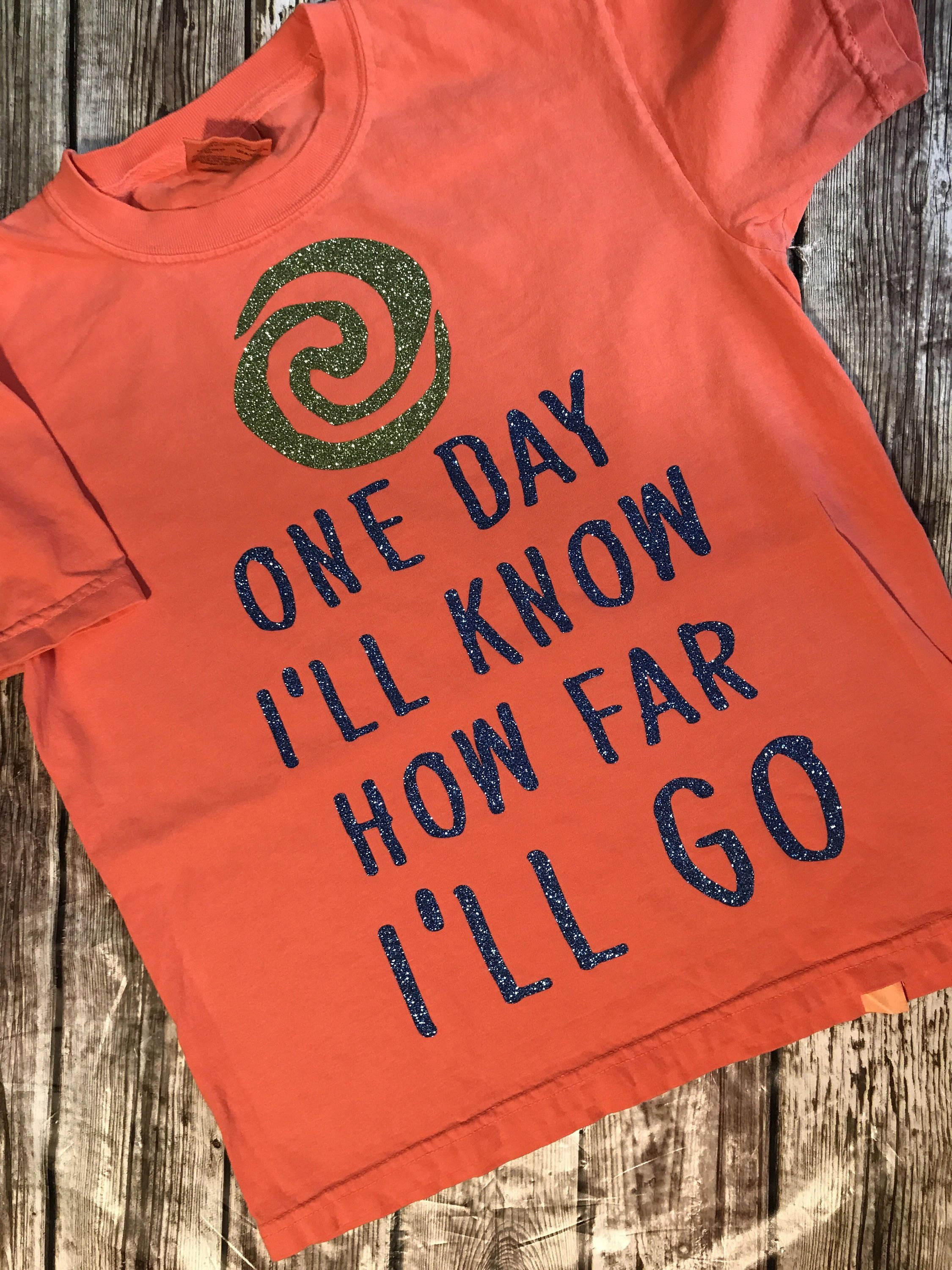 Moana Disney Inspired Comfort Color Tshirt Or Tank Youth And