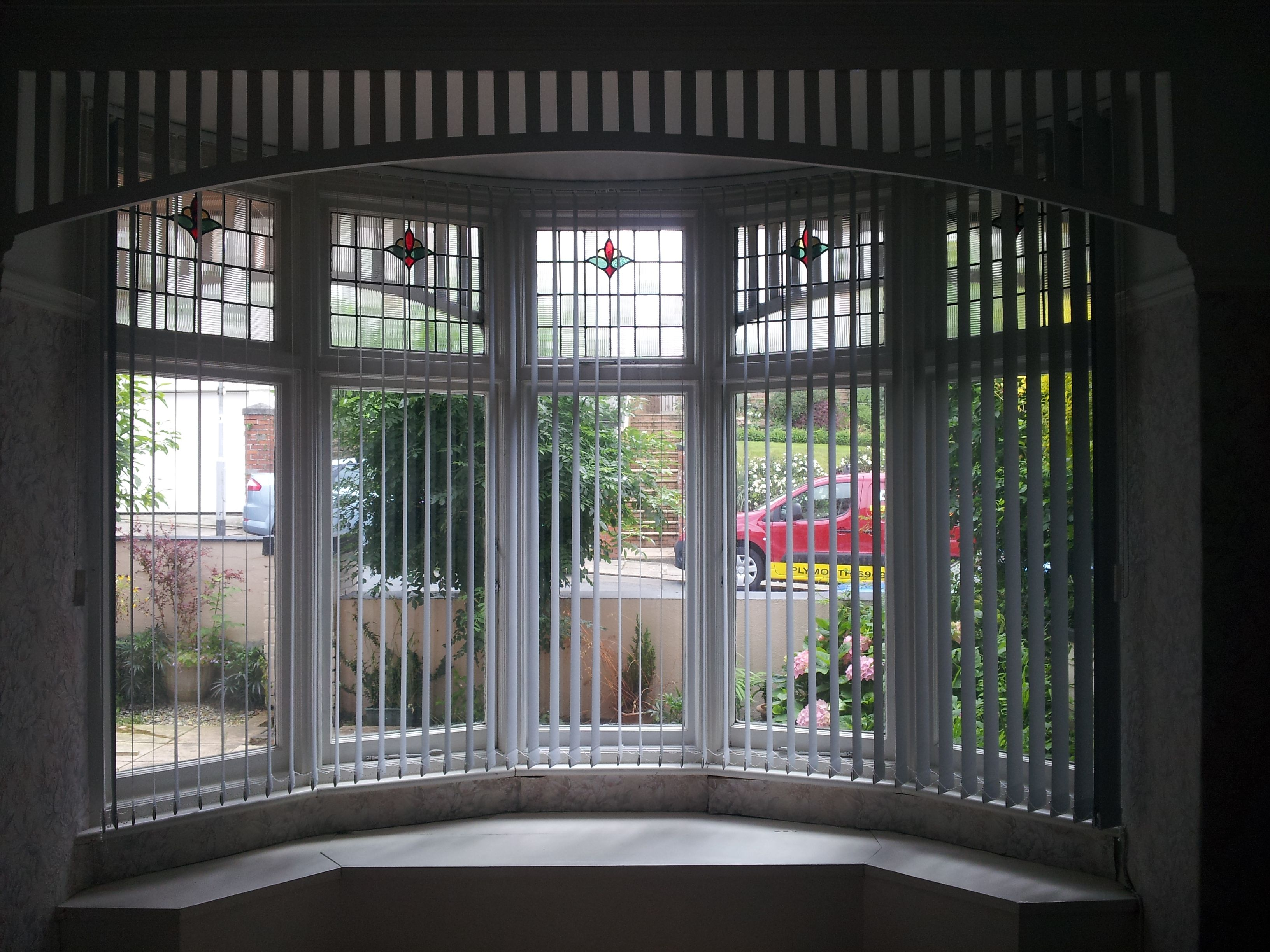 Blinds for curved windows - Vertical Window Blinds Curved Vertical Blinds Installed Into A Curved Bay Window Here In Plymouth By Blindology Blinds Of Plymouth