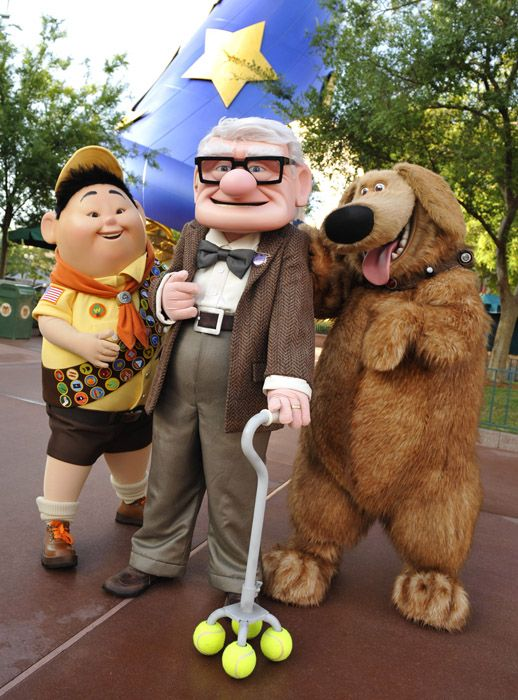 First Look At Characters From Disney Pixar S Up At Hollywood Studios Attractions Magazine Disney World Characters Walt Disney Disney World