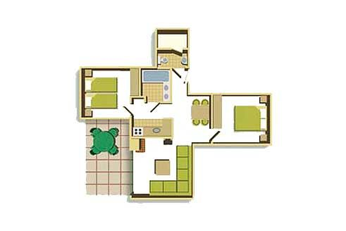 Two Bedroom Floorplan Example New Home Designs Centre Parcs Lodge
