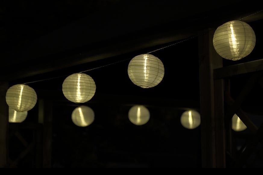 #Gartenlichterkette #Lampion-Lichterkette für #Haus oder #Garten mit 15 cm großen LED-Lampions