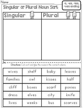 singular or plural noun sort school plural nouns sorting singular plural nouns. Black Bedroom Furniture Sets. Home Design Ideas